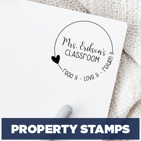 Personalized Teacher Stamps - Grading & Book Stamps - 904 Custom
