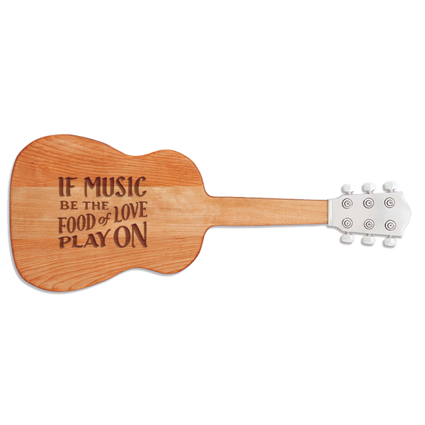 Music Is the Food of Love Guitar Cutting Board