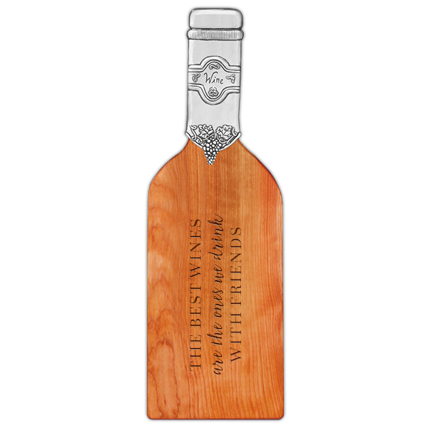 The Best Wines... Quote Bottle Shaped Cutting Board