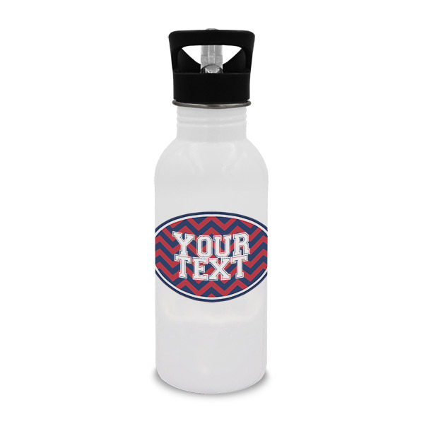 GU Inspired Navy & Red Collegiate Water Bottle