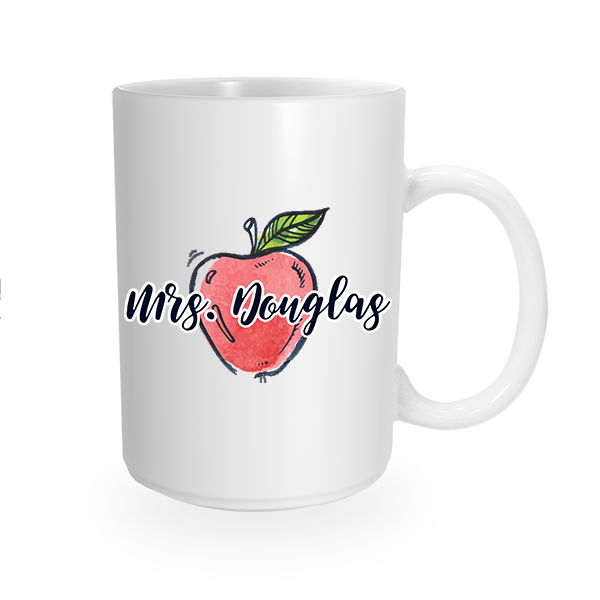 Custom Teacher's Apple Coffee Mug