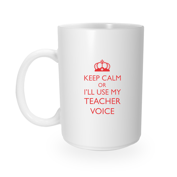 Keep Calm Teacher Coffee Mug