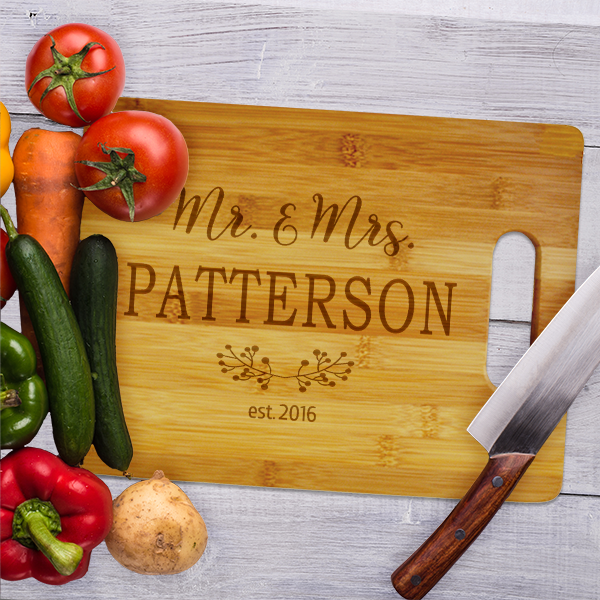 Mr. & Mrs. Established Large Cutting Board
