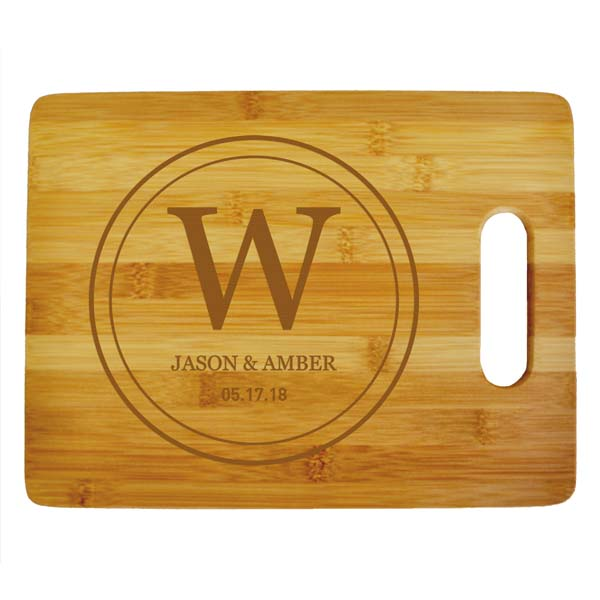 Double Circle Monogram Cutting Board
