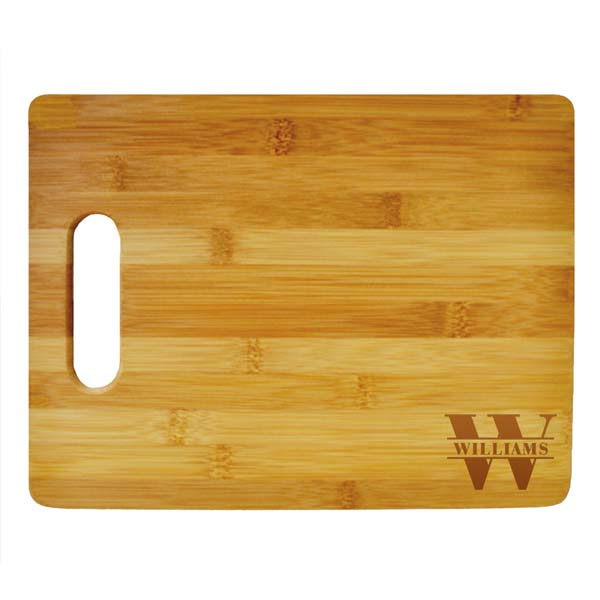 Last Name Monogram Large Cutting Board