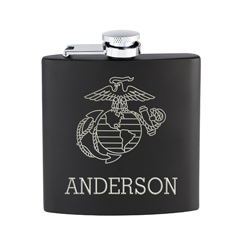 US Marine Corps Custom Name Flask