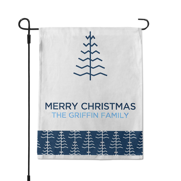 Contemporary Christmas Tree Holiday Custom Garden Flag
