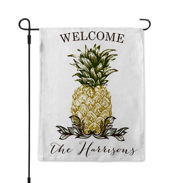 Southern Hospitality Pineapple Welcome Garden Flag