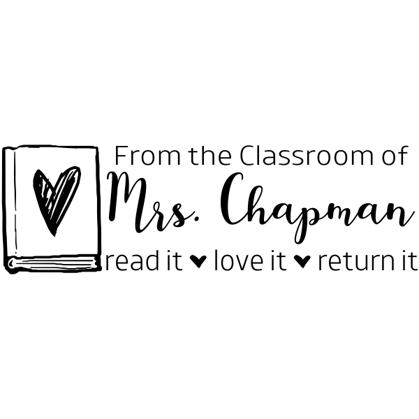 Read Love Return Classroom Teacher Stamp