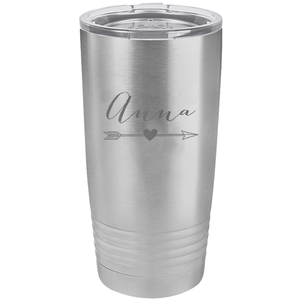 Custom Tumbler Anna Heart Arrow