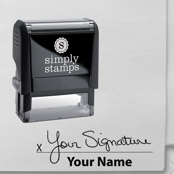 Personalized Signature Stamp with Printed Name