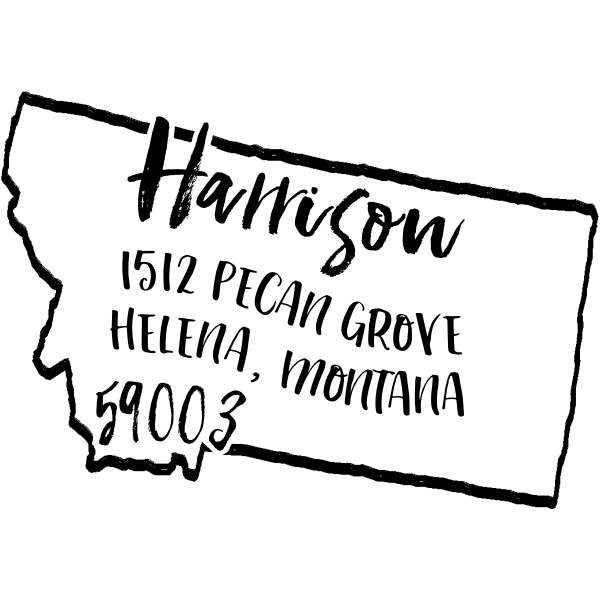 Custom Montana Address Stamp