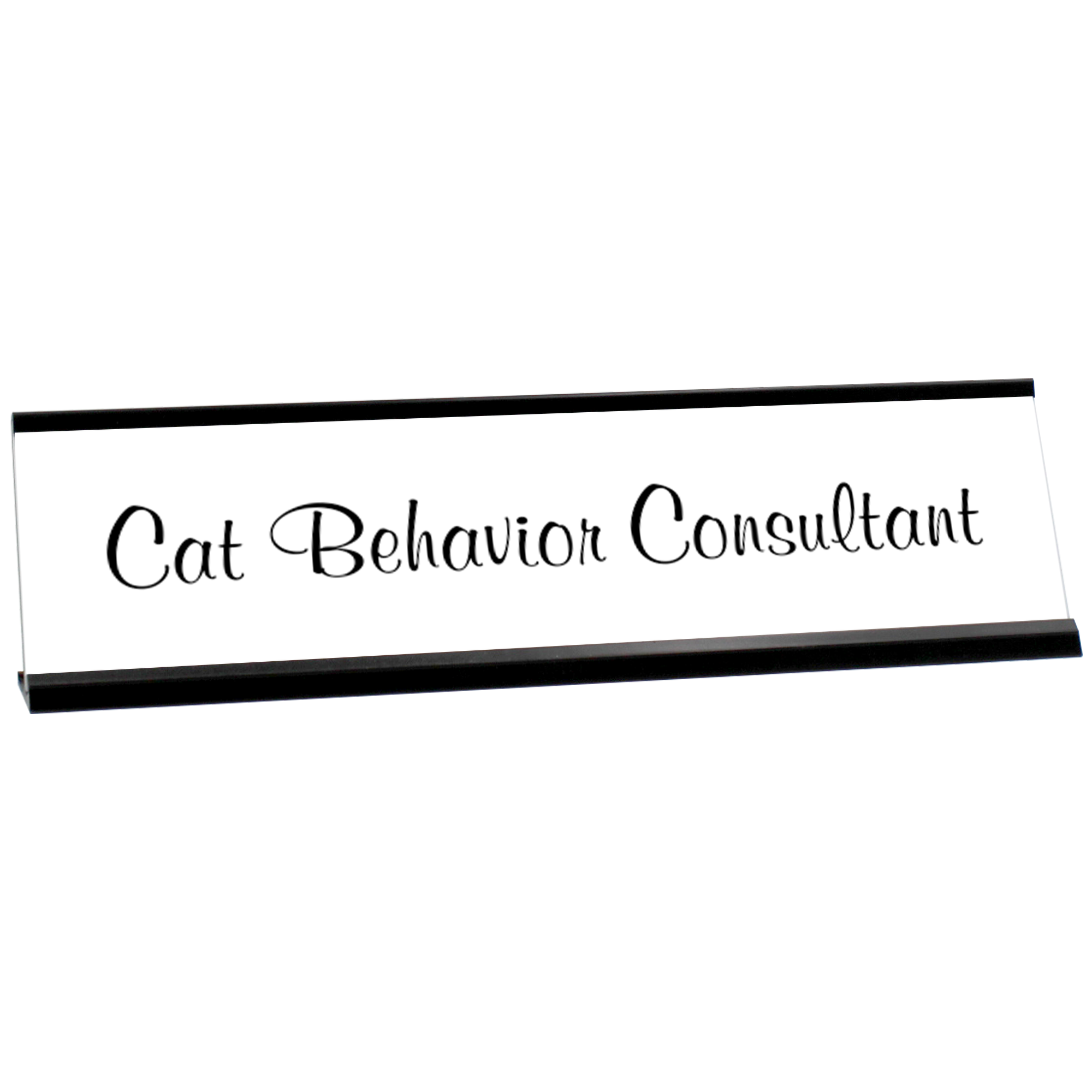Cat Behavior Desk Plate