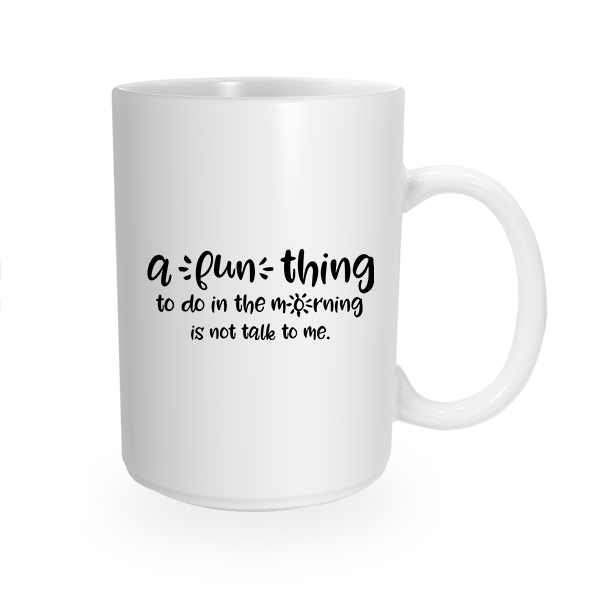 Fun No Talking Coffee Cup