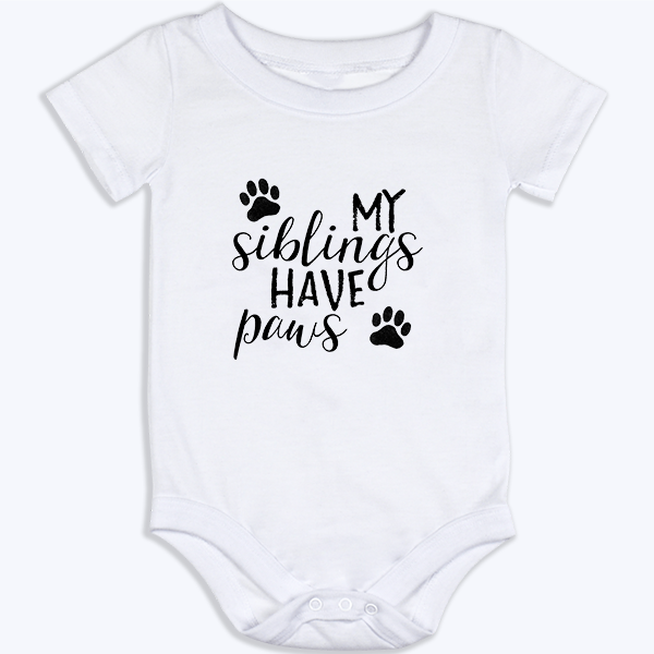Siblings with Paws Onesie