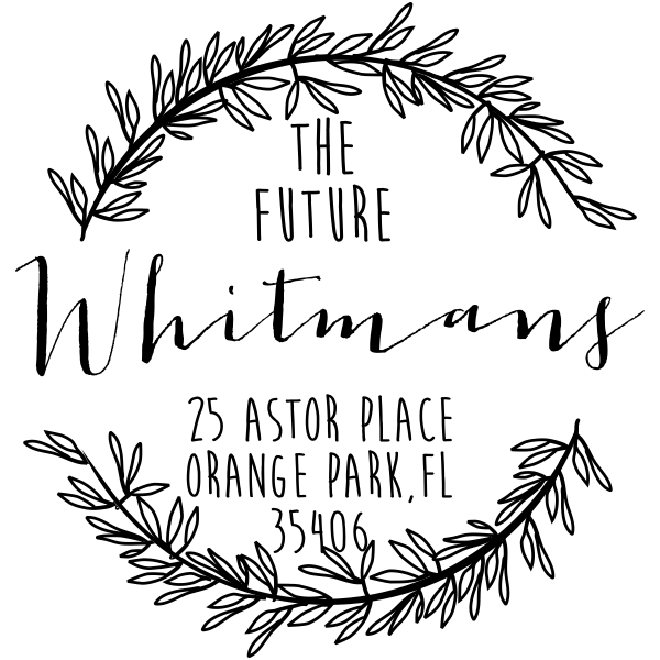 Whitman Wedding Address Stamp