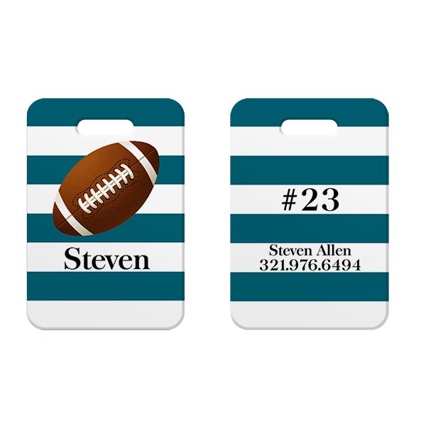 Football Kids Luggage Tag