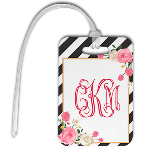 Floral Glam Luggage Tag Front