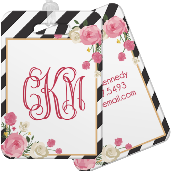 Floral Glam Luggage Tag