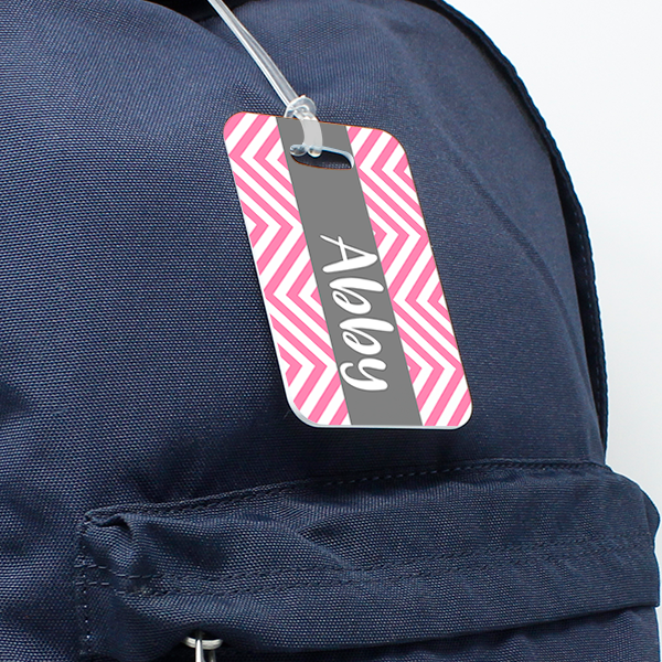 Chevrons Personalized Bag Tag