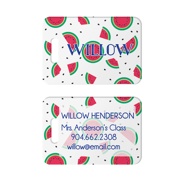 Watermelons Personalized Bag Tag
