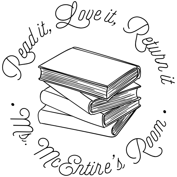 Book Stack Teacher Property Stamp