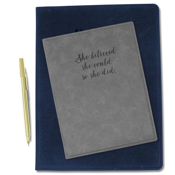 She Believed Leatherette Folio Stack