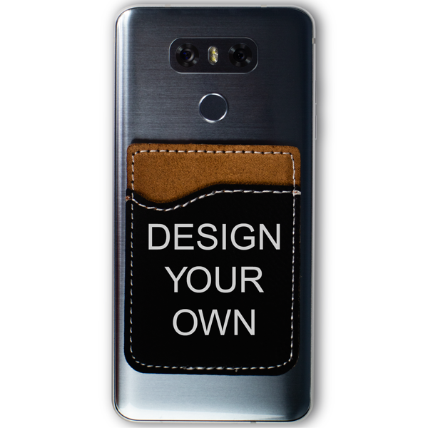Engraved Leatherette Custom Card Caddy Phone Wallet
