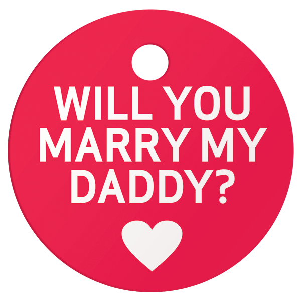 Marry My Daddy Pet ID Tag