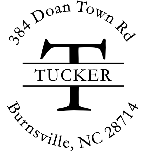 Tucker European Return Address Stamp