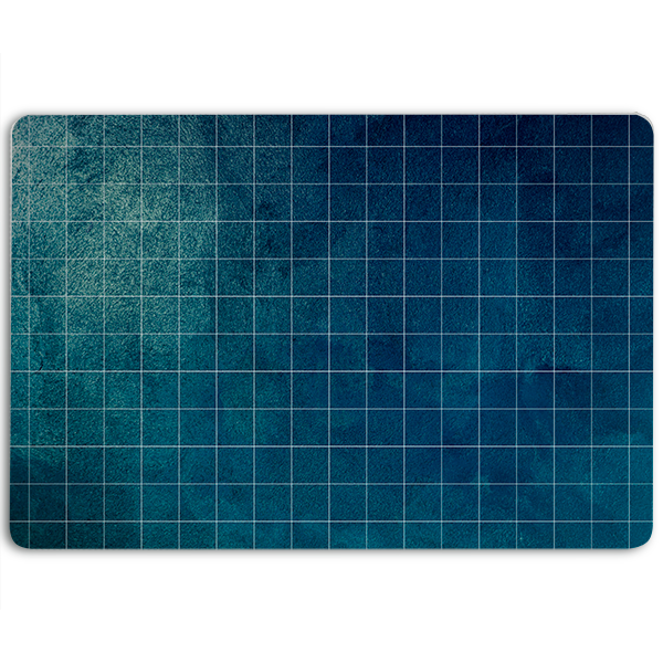 Blue Marbled Grid Gaming Mat 904 Custom