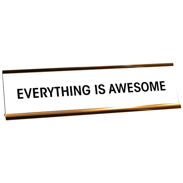 Everything is Awesome Desk Plate White/Rose