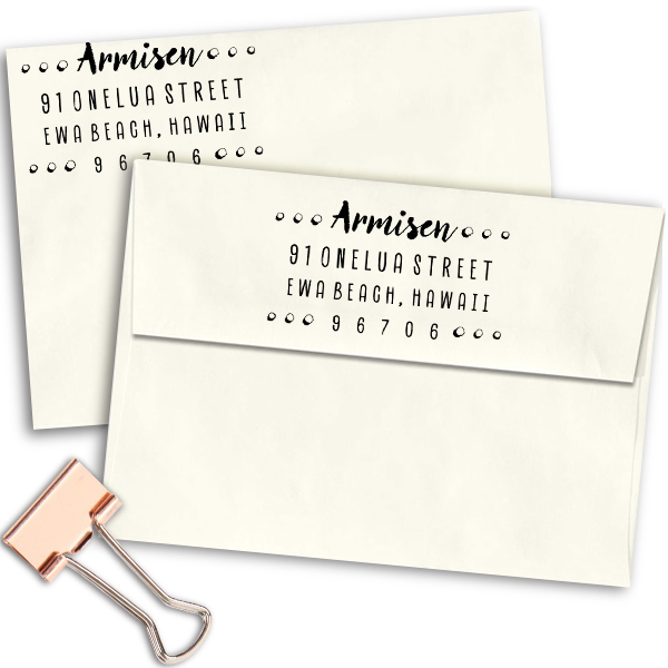 Armisen Halftone Address Stamped envelopes