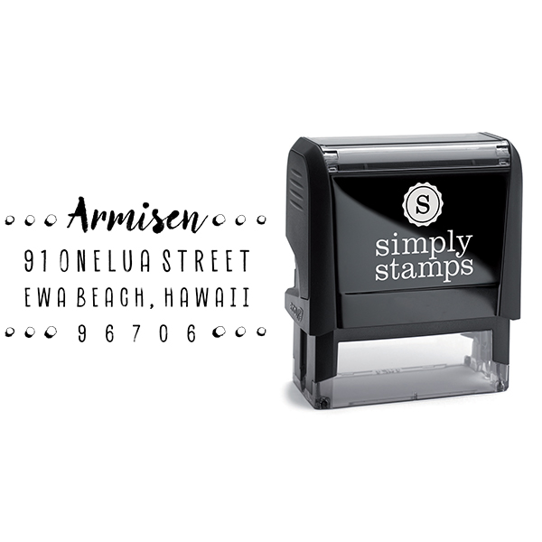 Armisen Halftone Address Stamp & stamp model body