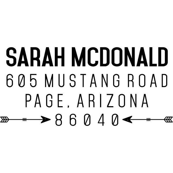 Southwestern Tribal Arrow Address Stamp design