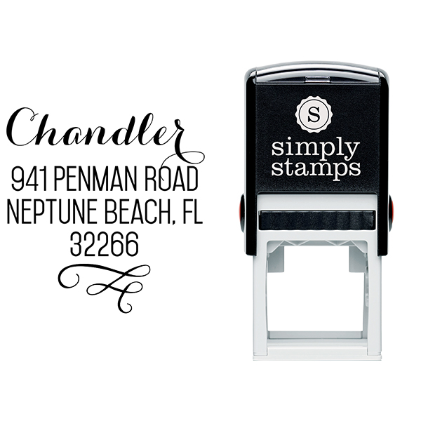 Chandler Swash Address Stamp & stamp model body