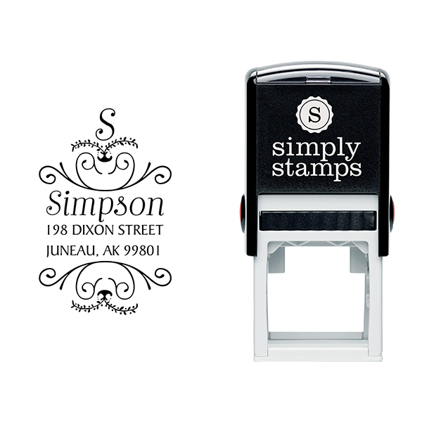 Simpson Ornamental Address Stamp & stamp model body