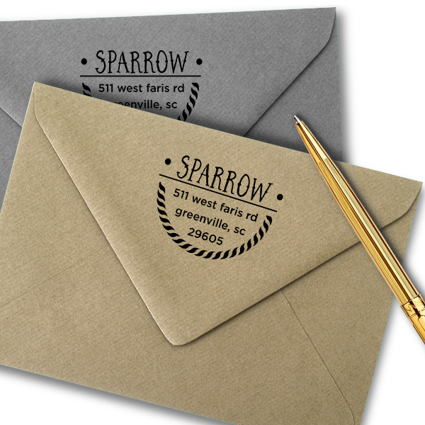 Sparrow Nautical Address Stamped envelopes