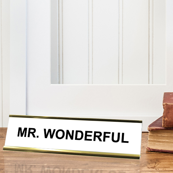 MR. WONDERFUL Desk Plate