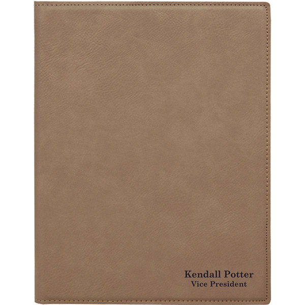 2 Line Custom Leatherette Folio Small