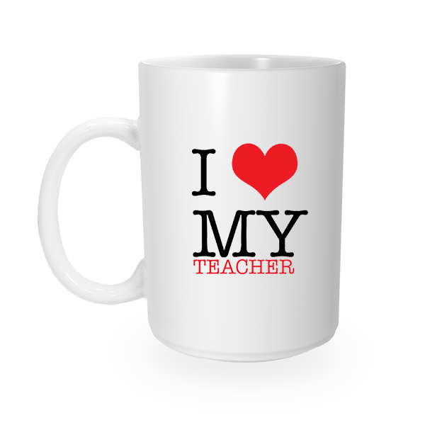 Teacher Love Coffee Mug (Left Handle)