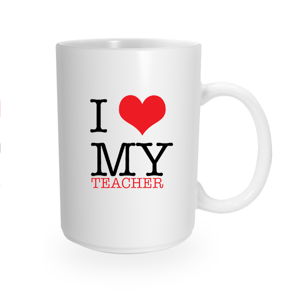 Teacher Love Coffee Mug (Right Handle)