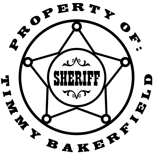 Sheriff Badge Rubber Stamp