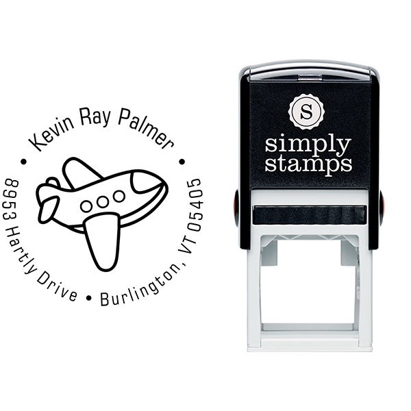 Toy Plane Return Address Stamp & stamp model body