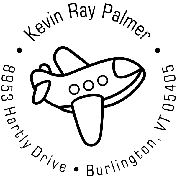 Toy Plane Return Address Stamp design