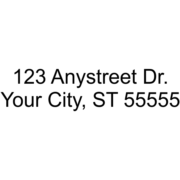 2 Line Address Stamp