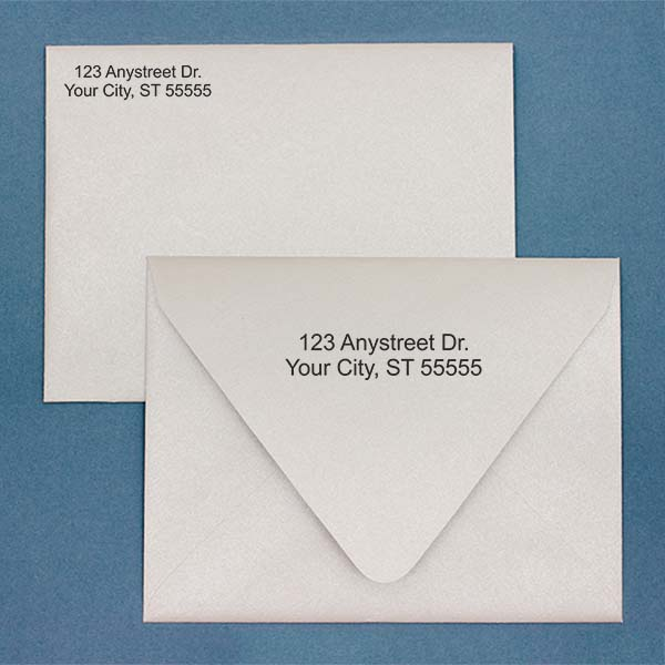 2 Line Address Stamp on envelopes