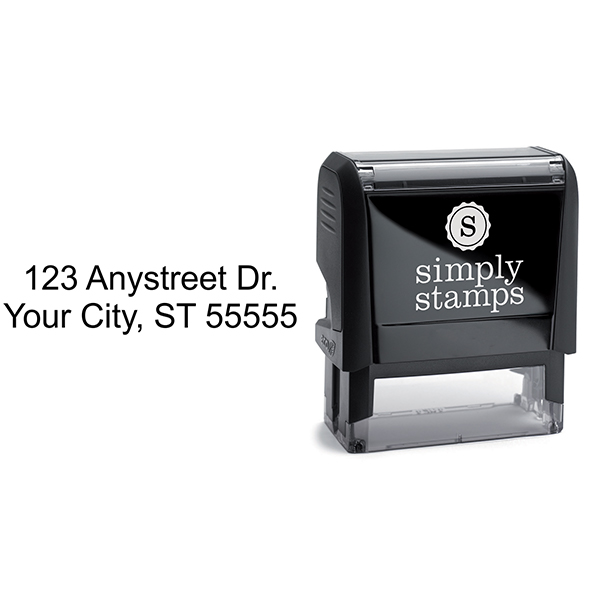2 Line Address Stamp with self inking stamp body