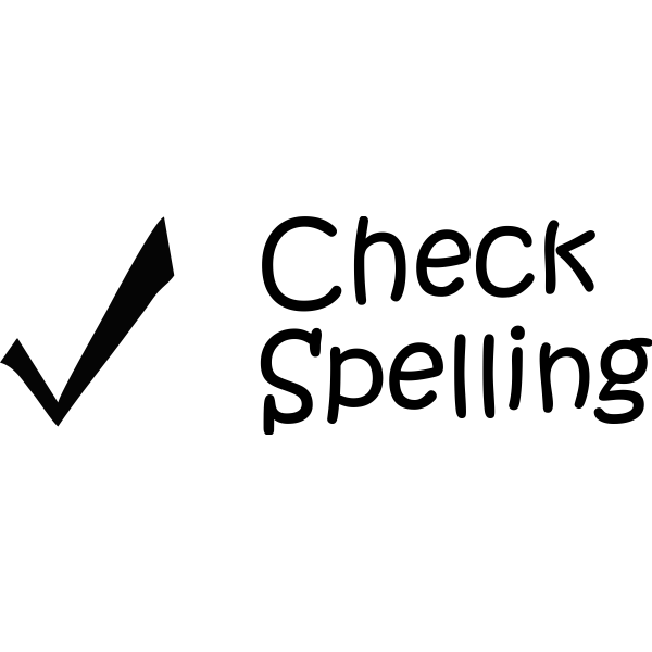 CHECK SPELLING Teacher Stamp