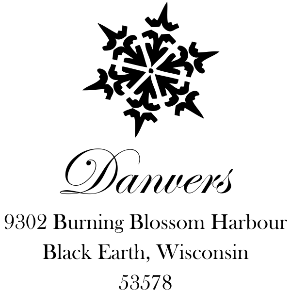 Danvers Snowflake address stamp